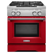 30'' 4-Burner Dual Fuel Freestanding Range, Commercial-Style - Signature Red OPEN BOX FLOOR MODEL 1 ONLY