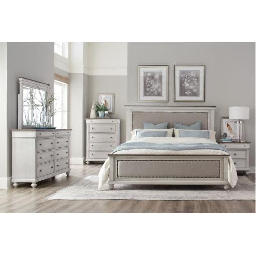 Grand Bay 3-Drawer Nightstand, White