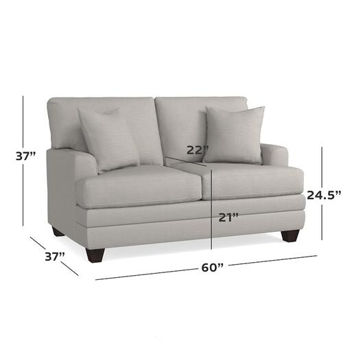CU.2 Loveseat, Arm Style Track