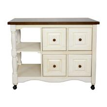 DCY-CRT-03-AW  Andrews Four Drawer Kitchen Cart