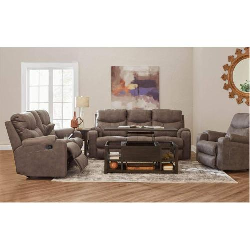 56424 Double Motion Loveseat with Console