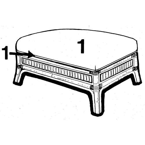 Capris Furniture - Ottoman, Available in Classic Natural Finish Only.