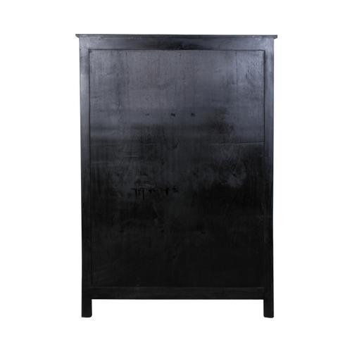 Cabinet - Antique Black/ Salvage Top