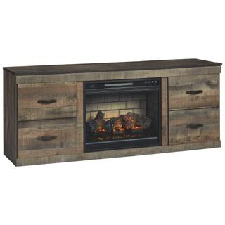 """See Details - Trinell 60"""" TV Stand With Electric Fireplace"""