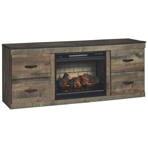 "Trinell 60"" TV Stand With Electric Fireplace"