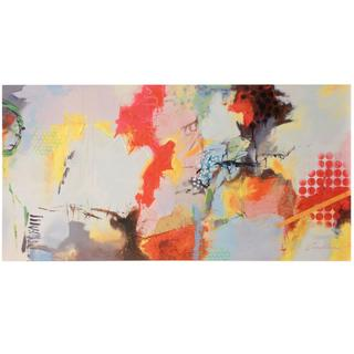 Abstract Color Splash 2  Printed & Hand Embellished on Stretched Canvas  Hanging Hardware Included