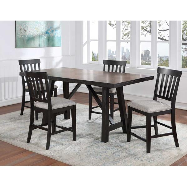 See Details - Halle 5-Piece Counter Dining Set (Counter Table & 4 Counter Chairs)