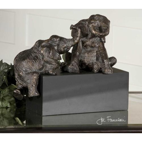 Playful Pachyderms Figurine