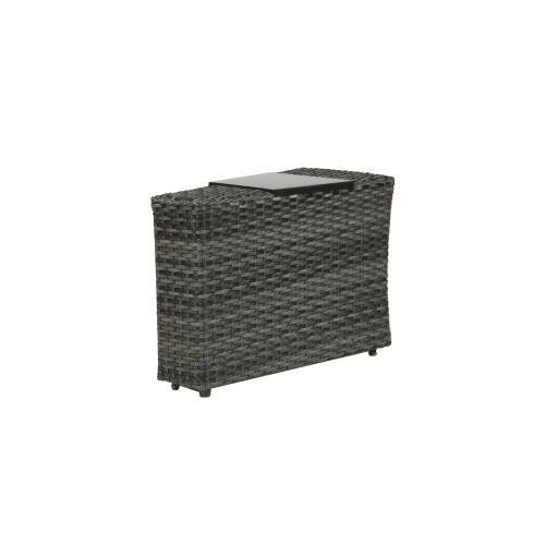 Portfino Wedge End Table w/Aluminium Tray