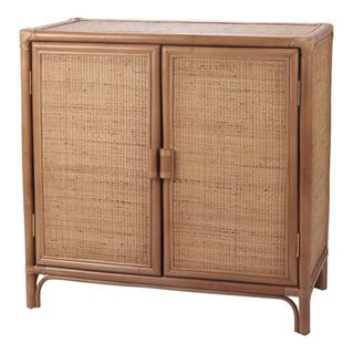 Granada Rattan Cabinet 2 Doors, Canary Brown