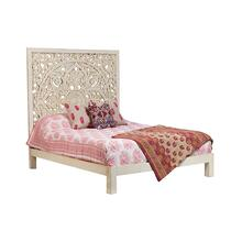 Bali White Queen Bed, SB-CBD-W