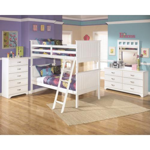 Lulu Twin Over Twin Bunk Bed White