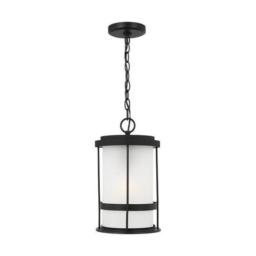 Wilburn One Light Outdoor Pendant Lantern Black Bulbs Inc