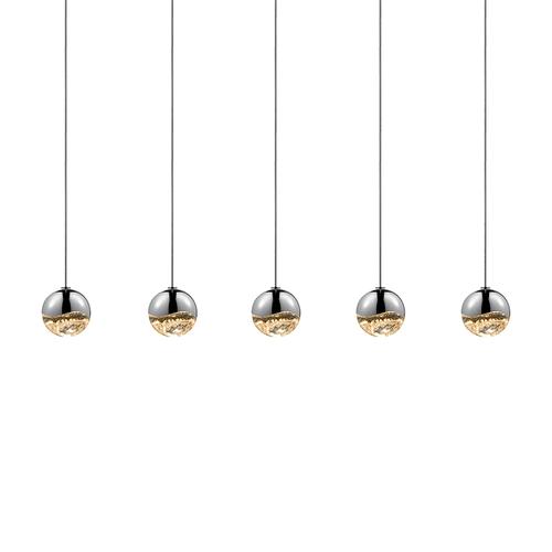Grapes® 5-Light Rectangle Small LED Pendant