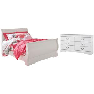 Full Sleigh Bed With Dresser