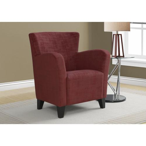 Gallery - ACCENT CHAIR - RED BRUSHED VELVET FABRIC