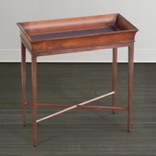 Discoveries Chairside Table w/Leather