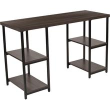 See Details - Homewood Collection Driftwood Finish Console Table with Black Metal Frame