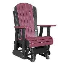 See Details - 2 Adirondack Glider Chair, Cherrywood-black