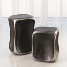 Formation Accent Table-Black/Platinum-Lg