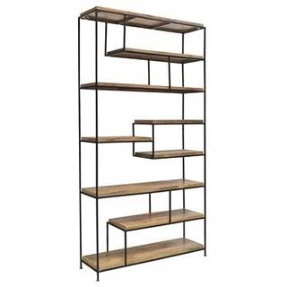See Details - Bengal Manor Iron and Wood Offset Large Etagere
