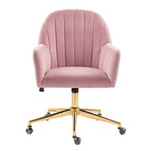 Blush Channeled Back Office Chair