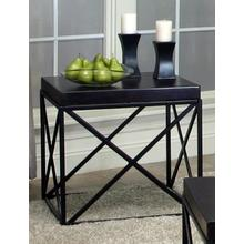 View Product - Errica Black Metal and Espresso Wood End Table