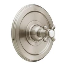 View Product - Ashbee Pressure Balanced Shower Trim with Cross Handle - Brushed Nickel