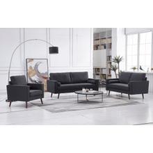 See Details - 8112 3PC DARK GRAY Linen Stationary Living Room SET