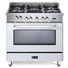 "White 36"" Dual Fuel Single Oven Range - 'N' Series"