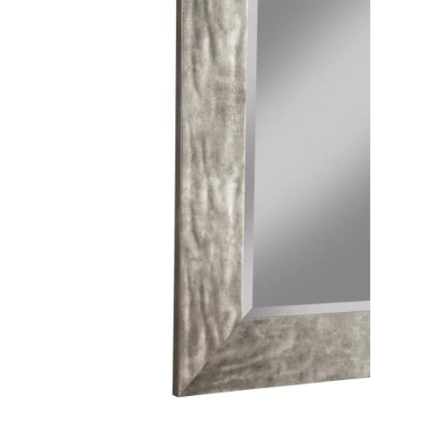 Hammered Metal Leaner Mirror -