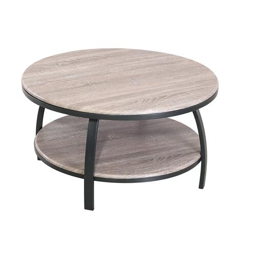 Carson Round Coffee Table, Weathered Gray T226-00-03