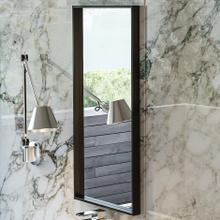See Details - Wall-mount mirror in wooden or metal frame.