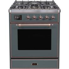 "30"" Inch Blue Grey Liquid Propane Freestanding Range"