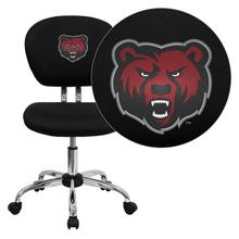 State University of New York at Potsdam Bears Embroidered Black Mesh Task Chair with Chrome Base