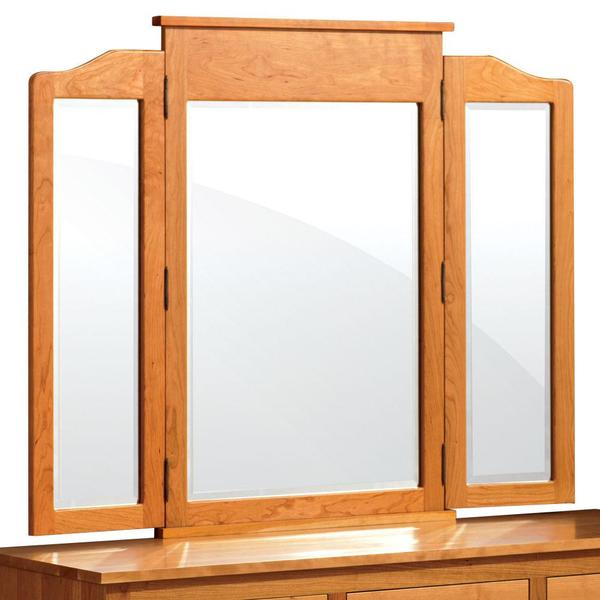 See Details - Shaker Tri-View Mirror, 63 'w x 41 'h