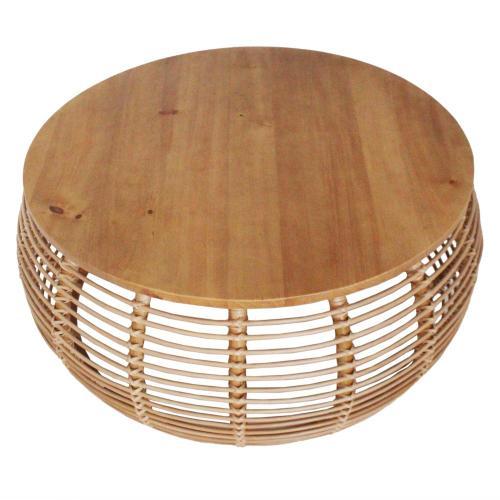 Iris Rattan Coffee Table, Honey