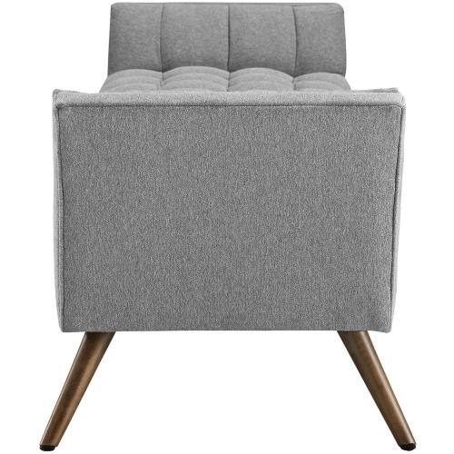 Modway - Response Upholstered Fabric Bench in Expectation Gray