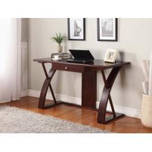 Brown Solid Wood Computer Desk