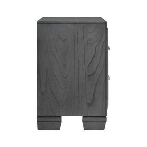 Elements - Titanium 2-Drawer Nightstand