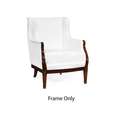 Winged occasional chair, Frame only