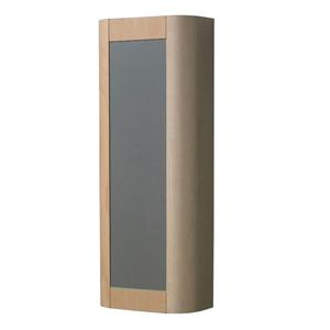 Aeri vertical wall mount storage unit with mirrored door and four shelves. Product Image