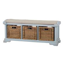 View Product - Homestead Bench w/ Rattan Baskets