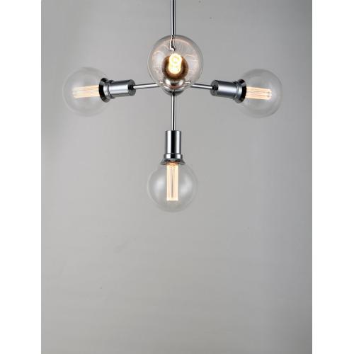 Molecule 4-Light Pendant with G40 CL LED Bulbs
