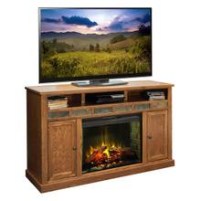 "Oak Creek 62"" Fireplace Console in Golden Oak      (OC5101-GDO,58230)"