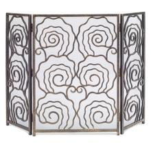 See Details - Spiral 3-Panel Fireplace Screen