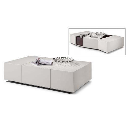 Modrest P592A - Modern White Coffee Table