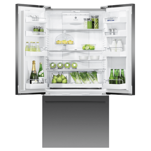 """Gallery - Freestanding French Door Refrigerator, 31"""", 17.5 cu ft, Ice & Water"""