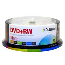 See Details - Polaroid DVD+RW 4.7GB/120-Minute 4x Rewritable DVD Disc PRDVDPRW15S, 15-Pack Spindle