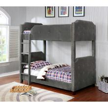 7606 Upholstered Bunk Bed